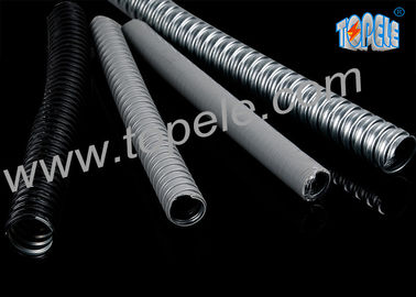 Chiny Electrical Galvanized Steel PVC Flexible Conduit And Fittings Grey dostawca