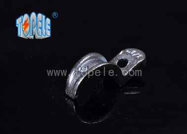 Malleable Iron Pipe Clamp , IMC Conduit And Fittings One Hole Conduit Strap