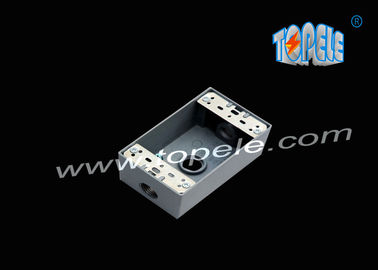 Chiny Die-cast Aluminum Weatherproof Boxes 3 Holes / 5 Holes Single Gang Outlet Boxes Die Cast Metal fabryka