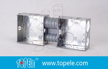 Electrical Boxes / 2-Gang British Standard Metal Conduit Box with PVC , Switch Box