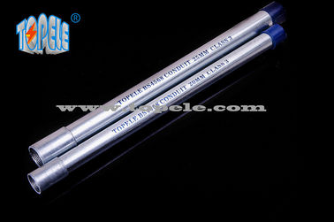 Galvanized Steel BS4568 Conduit / BS4568 TUBE / GI PIPE With Protection Cap