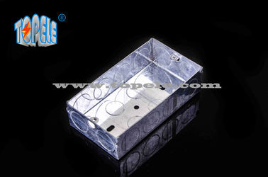 Chiny BS4568 Steel Two Gang GI Electrical Boxes And Covers For Metal Outlet Devices fabryka